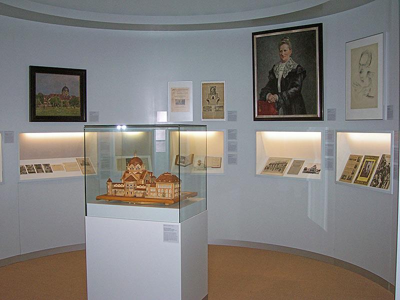 Blick in die Ausstellungsabteilung zur jüdischen Geschichte