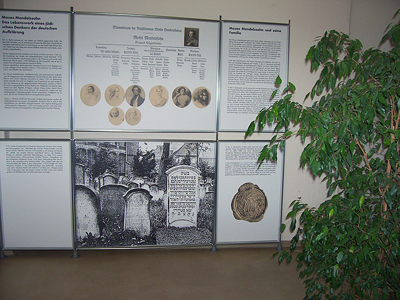 Mendelssohn-Ausstellung in unserem Moses-Mendelssohn-Zentrum