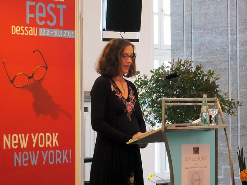 Preisträgerin 2012: Prof. Dr. Anne Pollok (Columbia)